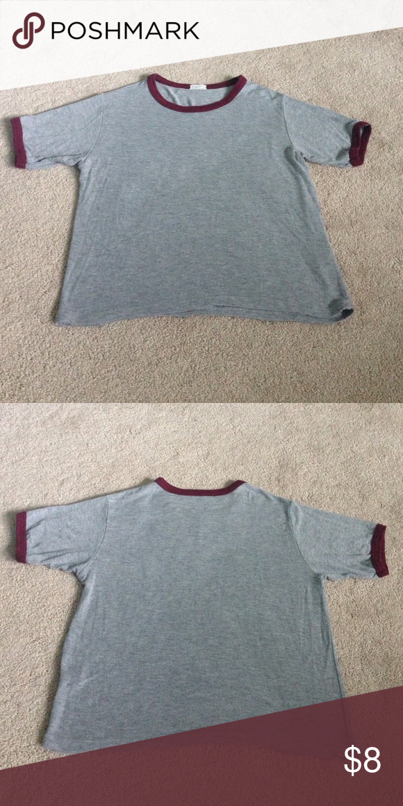 Brandy Melville shirt John Galt ringer tshirt in really good condition! Brandy Melville Tops