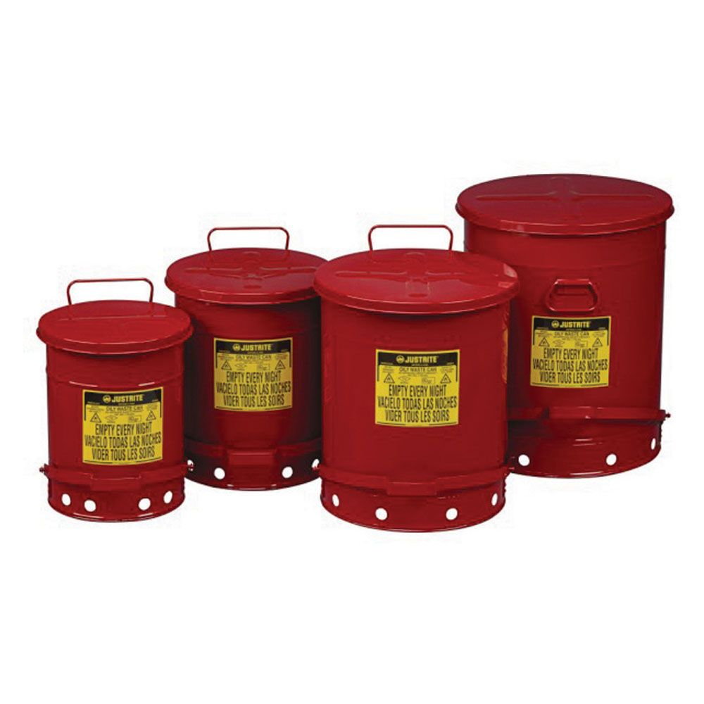 Oily Waste Cans Safe Disposal Of Used Wipes Rags Cloths