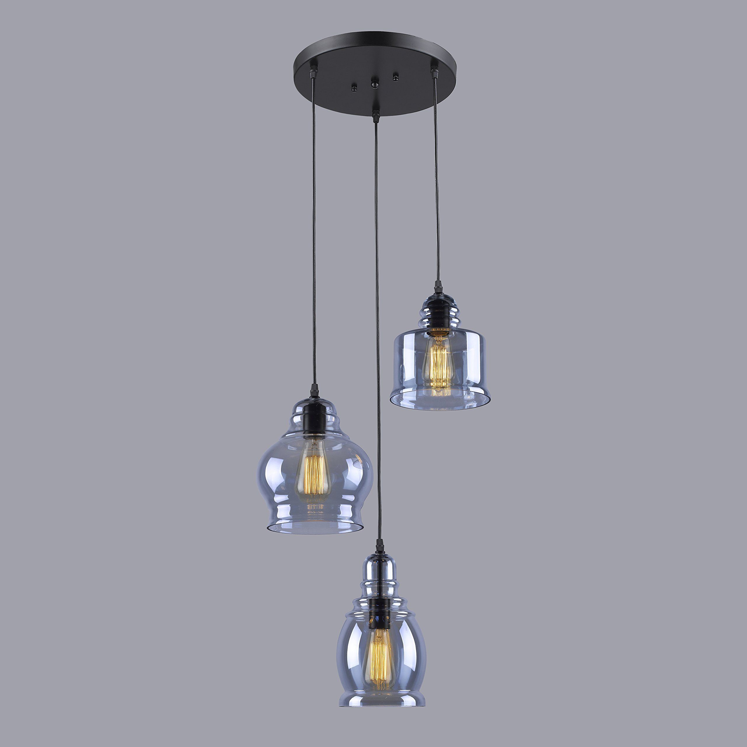 Claxy Ecopower Vintage Kitchen Linear Island Glass Chandelier Pendant Lighting