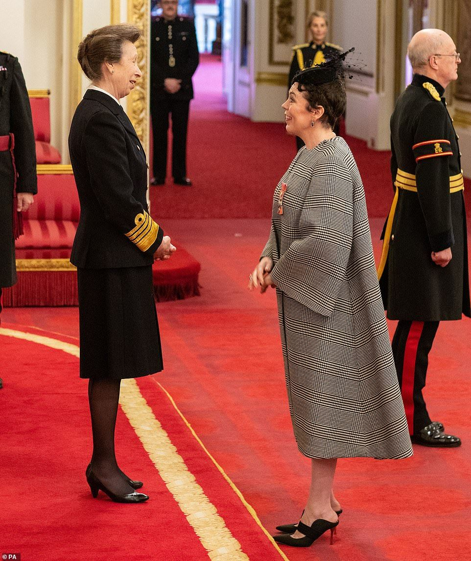 The Crown star Olivia Colman receives CBE from the
