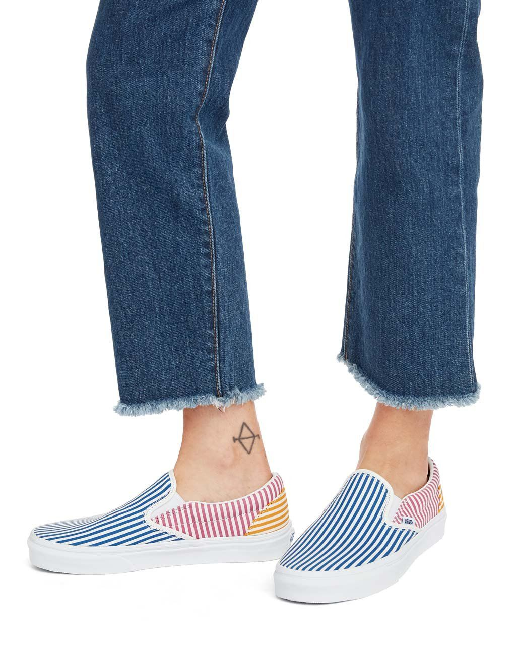Classic Slip On Deck Club Stripes by vans shoes ban.do