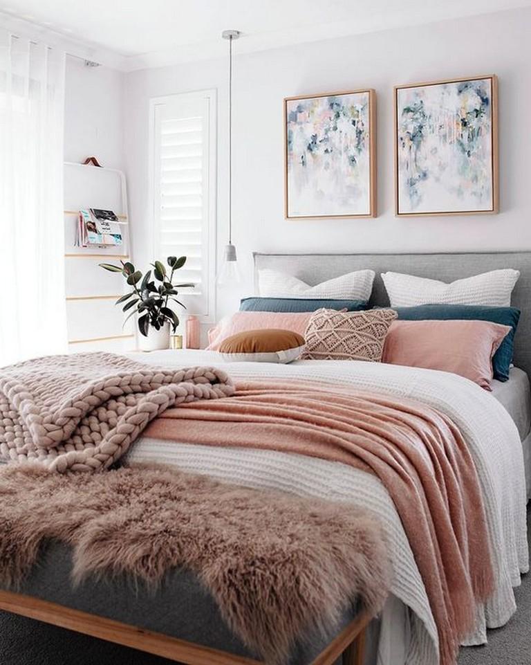 35+ Modern Rustic Scandinavian Bedroom Design Ideas #modernrusticbedroom