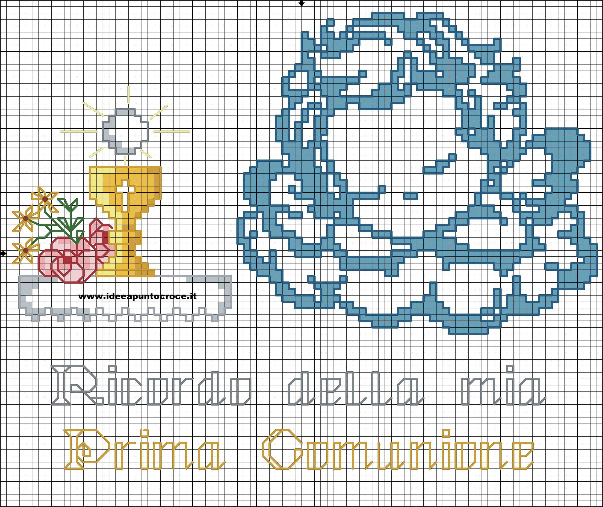 Assez SCHEMA ANGELO PRIMA COMUNIONE | Little angels cross stitch  UX43
