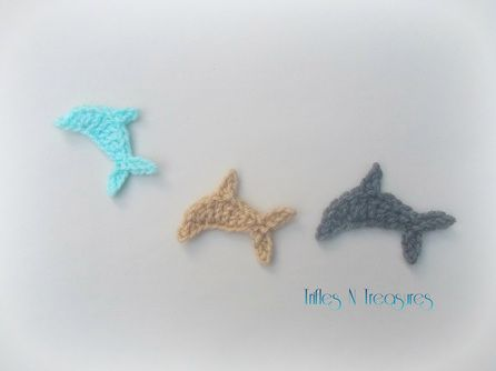 Crochet dolphin appliques free pattern hooked pinterest crochet dolphin appliques free pattern dt1010fo