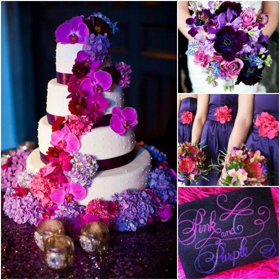 Purple And Red Wedding Ideas: Wedding Colors, Pink Purple Wedding