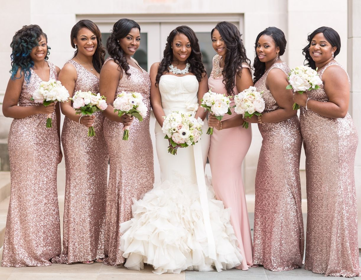 Party Dresses with Warm Colours for Bridesmaids