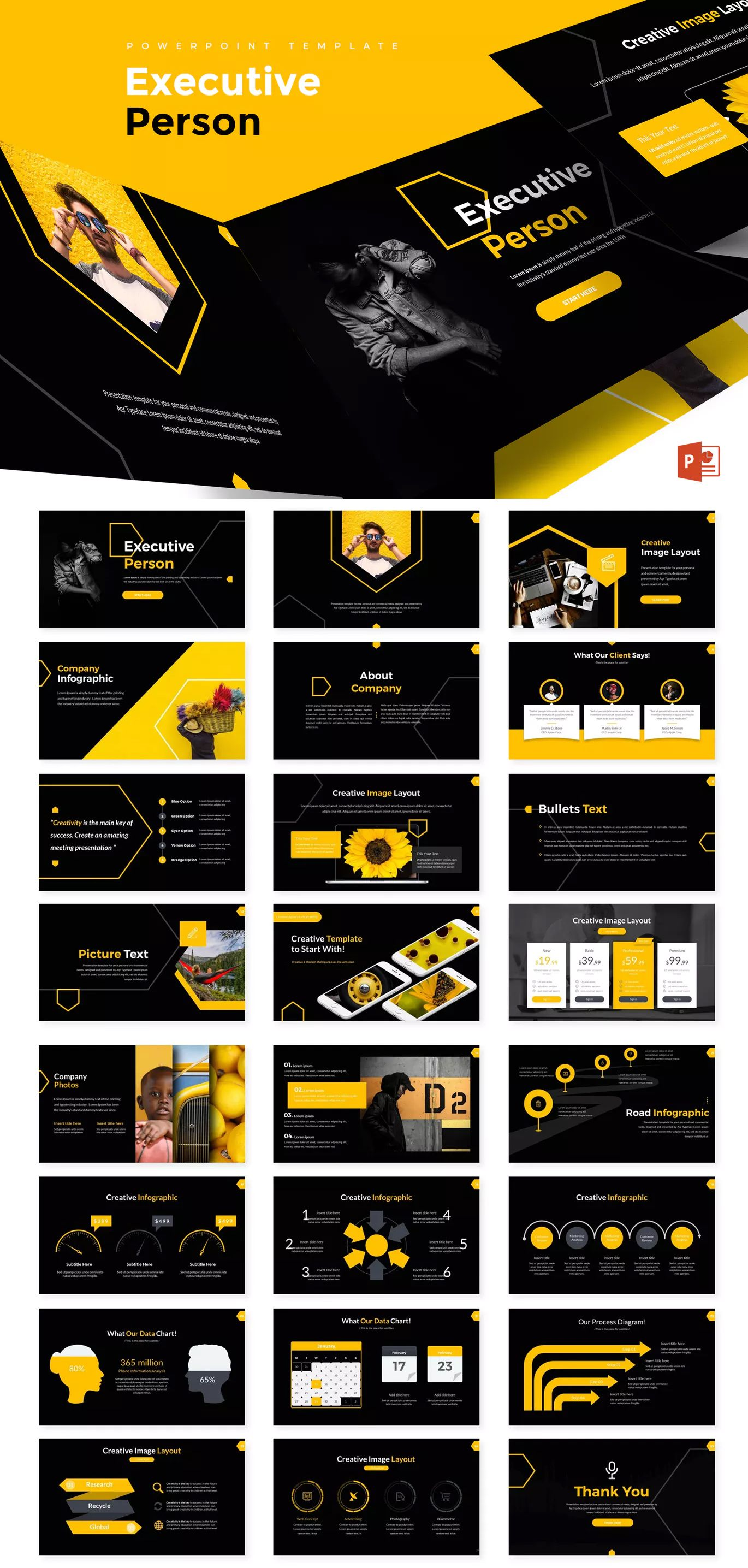 executive person powerpoint presentation template powerpoint