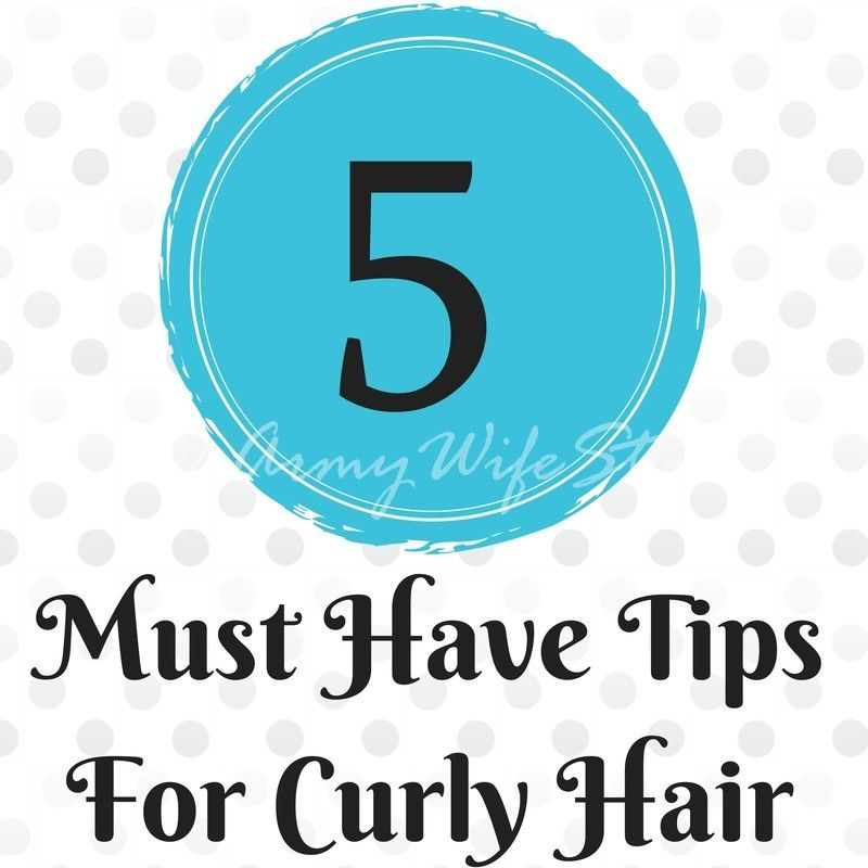 5 tips for curly hair