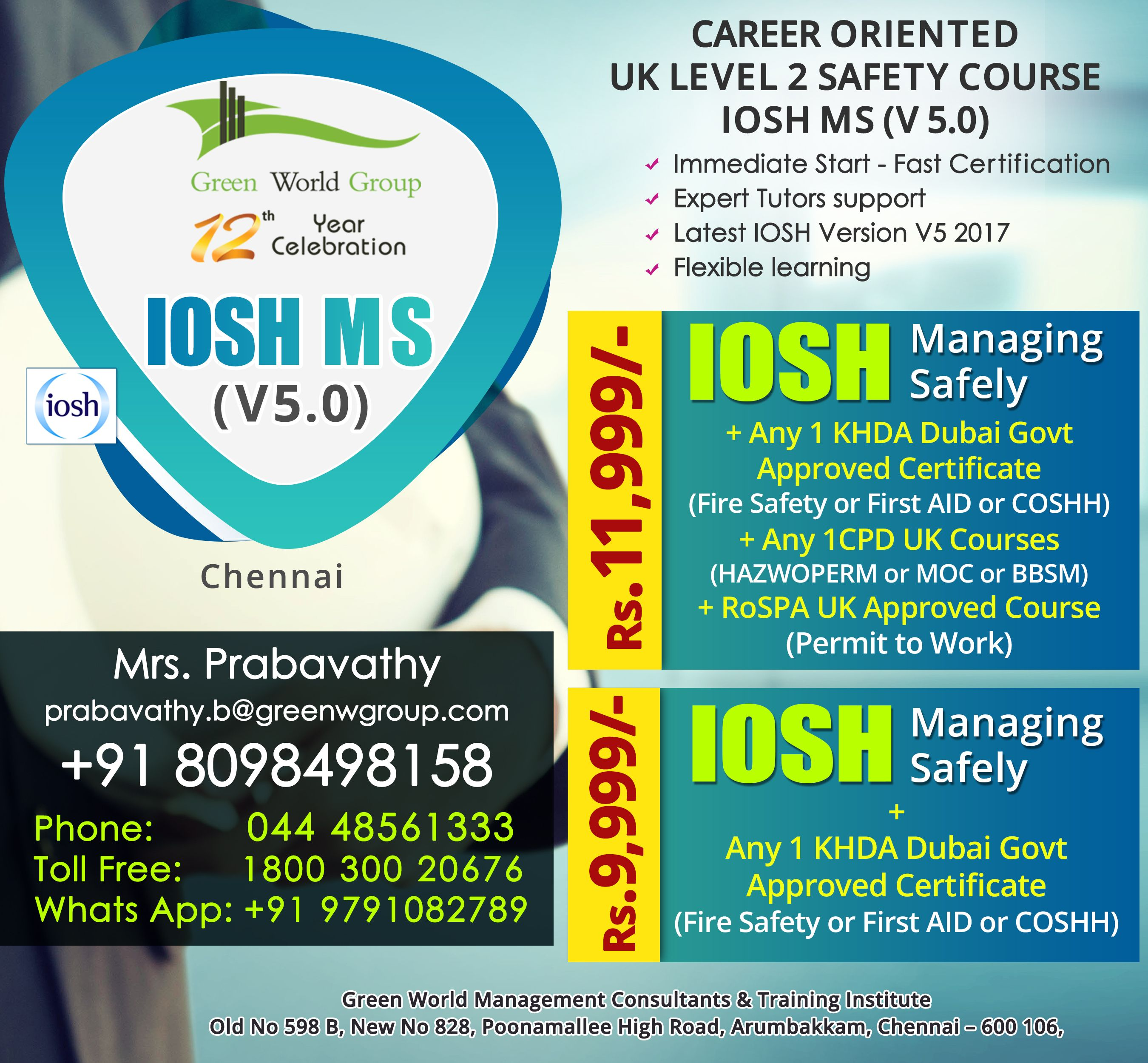 Green World Group In Chennai Is An Certified Iosh Course Provider