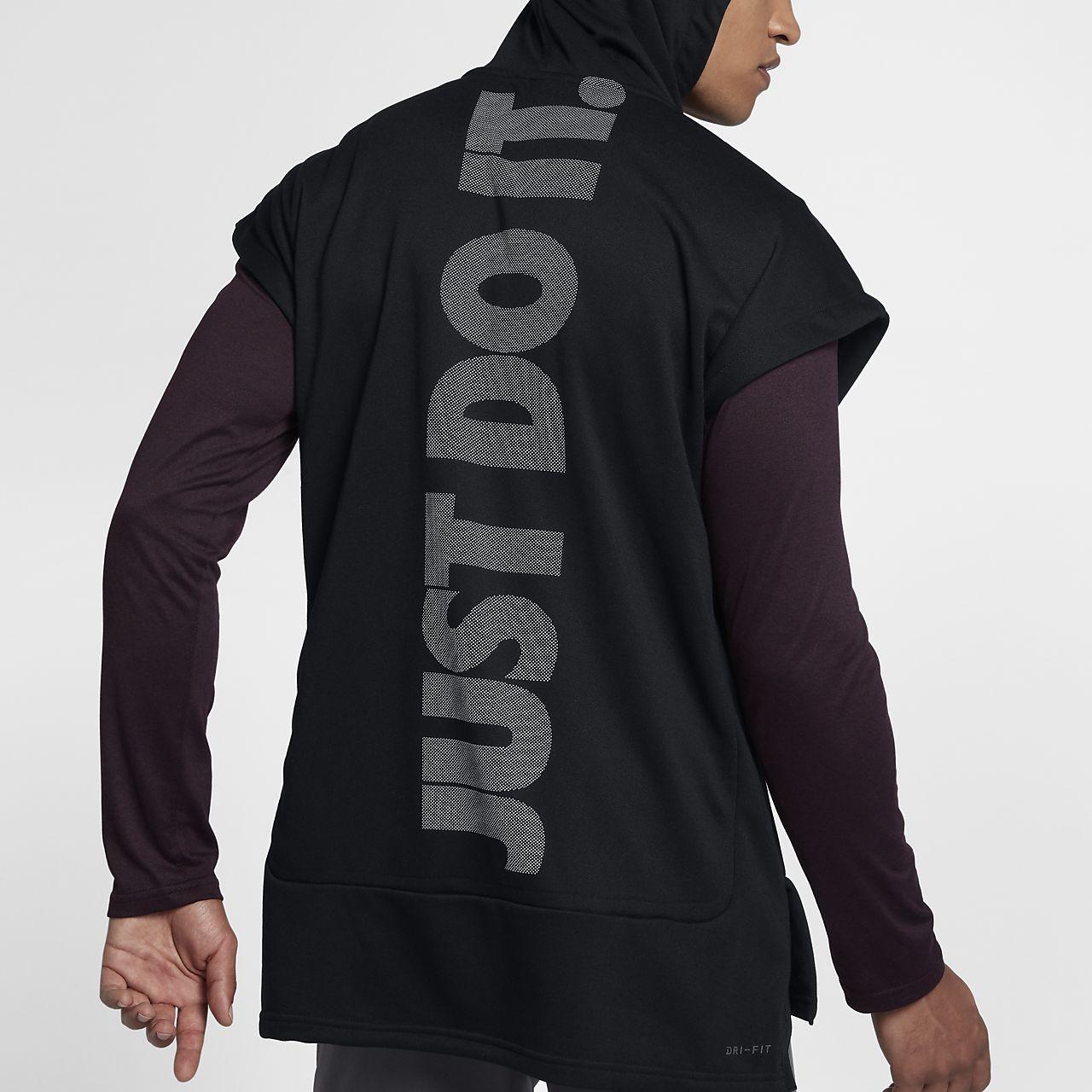 64ae21bc Nike Dri-FIT Men's Sleeveless Training Hoodie | Fitness | Mens ...