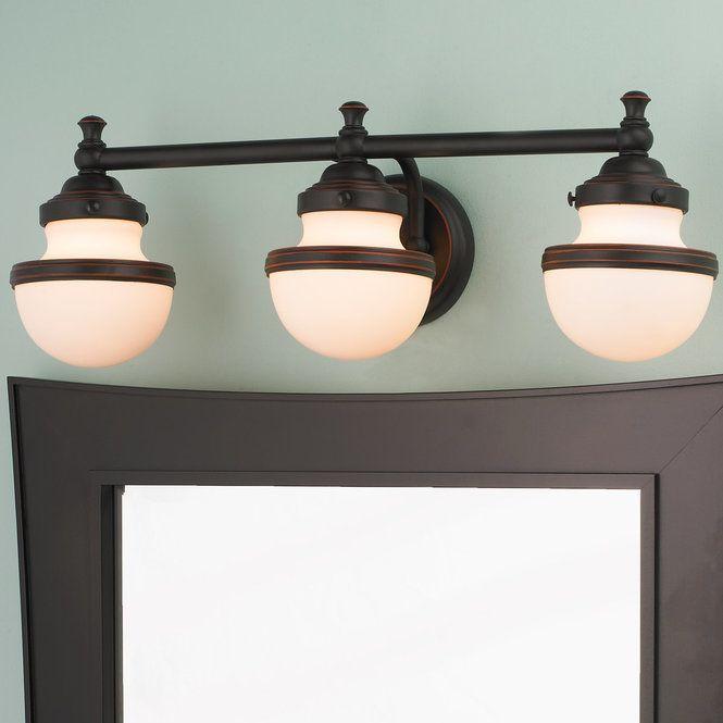 Retro Shade Bath Light 3 Light With Images Bath Light Light Shades