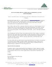 Le Bas International Press Release