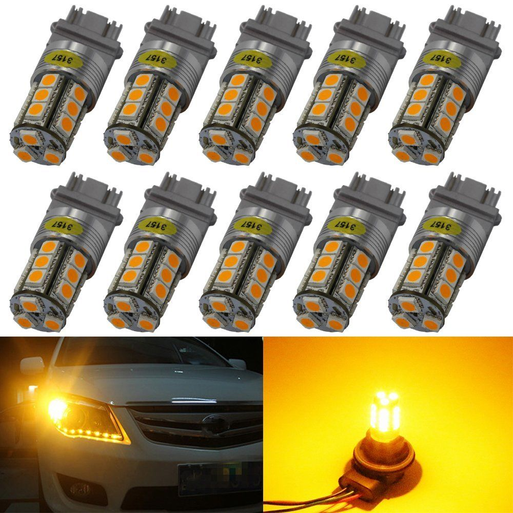 AMAZENAR 2-Pack 1157 BAY15D 7528 2057 2357 Extremely Bright 300Lum White 6500K LED Light,Non-Polarity 10-30V-DC 5050 18 SMD Replacement Bulb For Brake Light Tail Lamps Back Up Reverse Lights