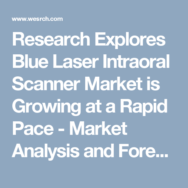 Research Explores Blue Laser Intraoral Scanner Market Is Growing