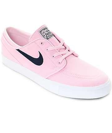 f25cd943333 Nike SB Janoski Prism Pink   Navy Canvas Skate Shoes
