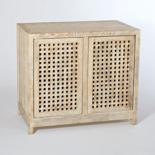 Studio A Driftwood Lattice Two Door Cabinet Global Views Cabinets Accent Chests