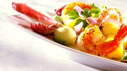 Salade crevettes, mangues et avocat - Recettes - À la di Stasio