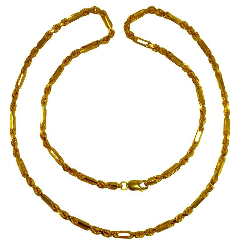 0432a1aed0ff5 22K Gold Cartier Rope Mens Chain - ChMs24093 - [Necklace ( Chains ...
