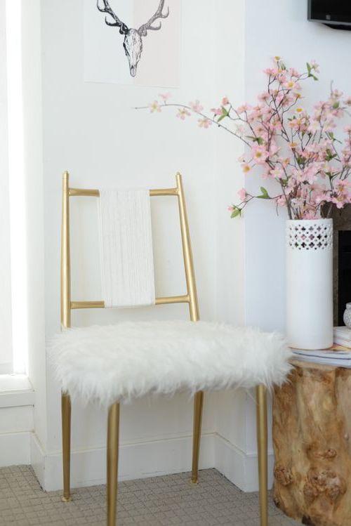 Einrichtungsideen mit Fell kuschelige Möbel für kalte Wintertage! - schöne bilder fürs wohnzimmer