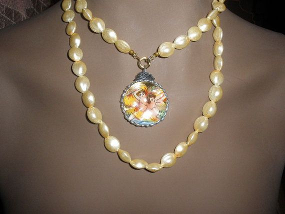 One of  A Kind Capodimonte Necklace