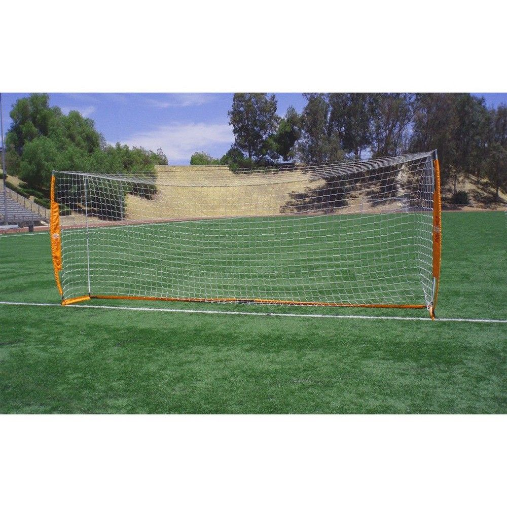 ee777f738 Bownet 6.6 Foot X 18.6 Foot Portable Youth Training Practice Soccer Goal,  Orange