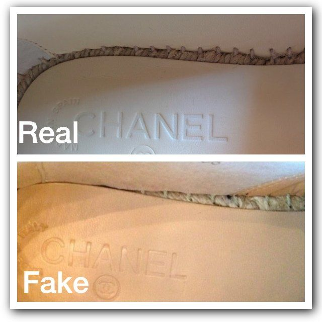 f11fb429a37 Real VS fake CHANEL insoles.