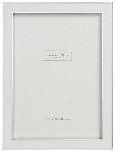 Addison Ross, Contemporary Photo Frame, 5x7 , White Enamel, 5 x 7 ...