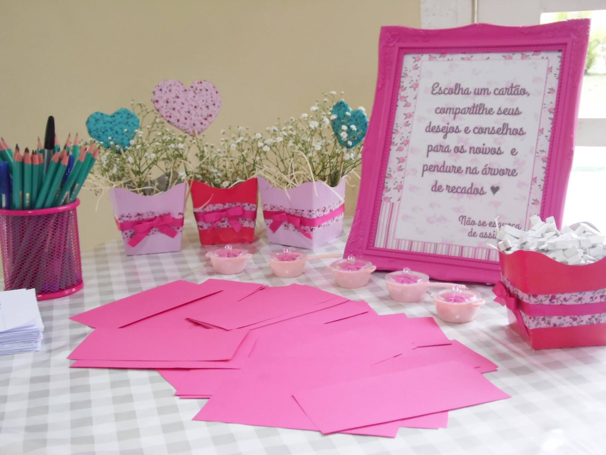 30 Chá da Vanessa   Chá de cozinha rosa e azul   Escolhi dizer Sim ...