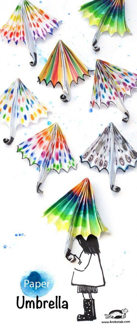 paper umbrella krokotak paper umbrellas craft and crafty