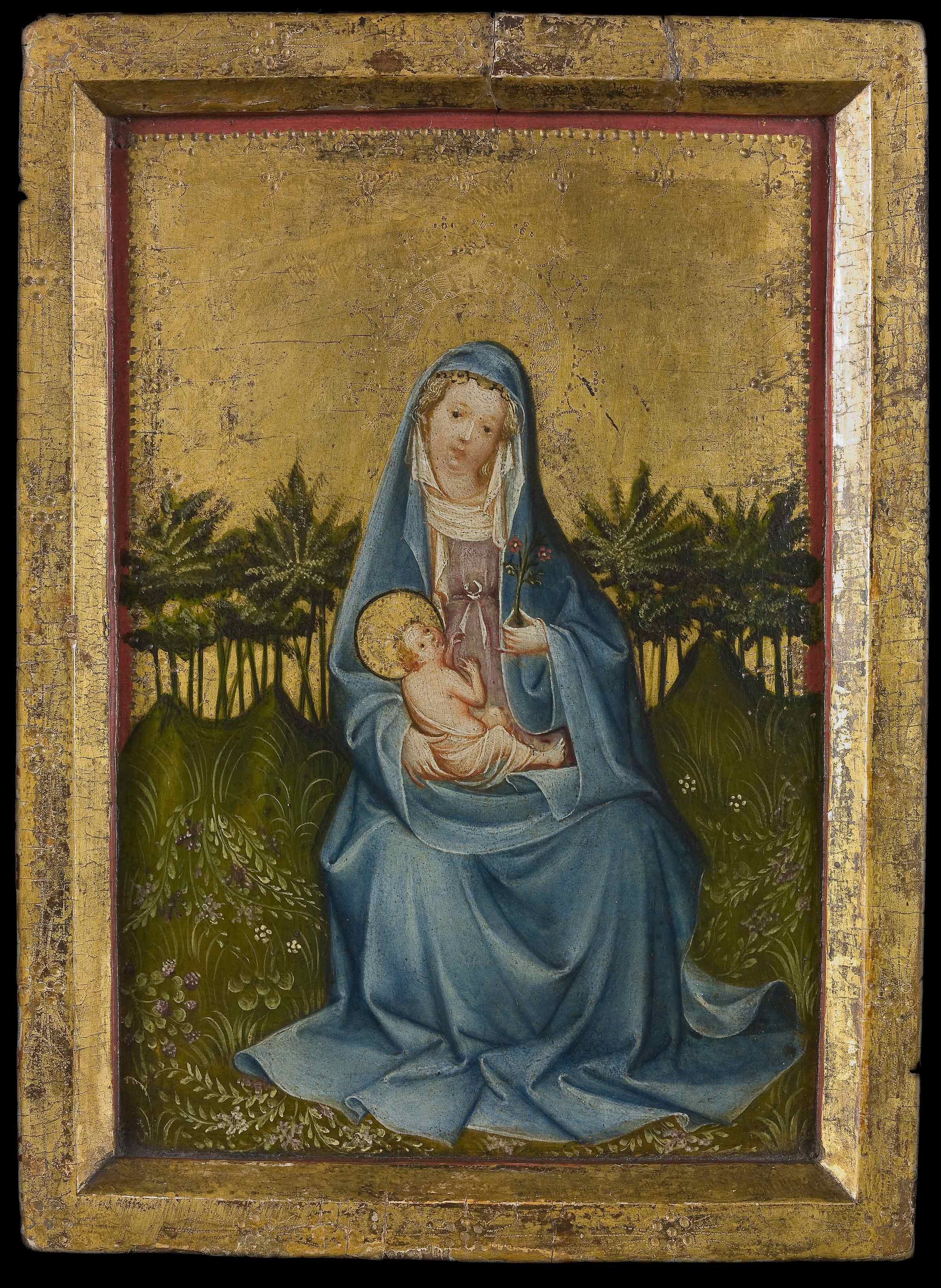 Cologne, c. 1420 – 25: Maria with Child in the Garden of Paradise ...