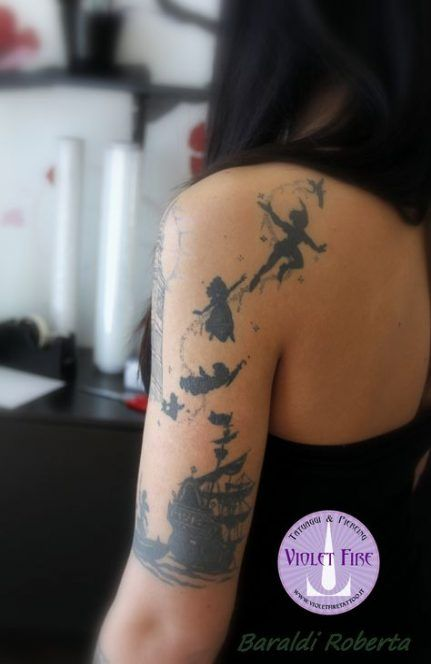 68+  Ideas Tattoo Sleeve Drawings Peter Pan