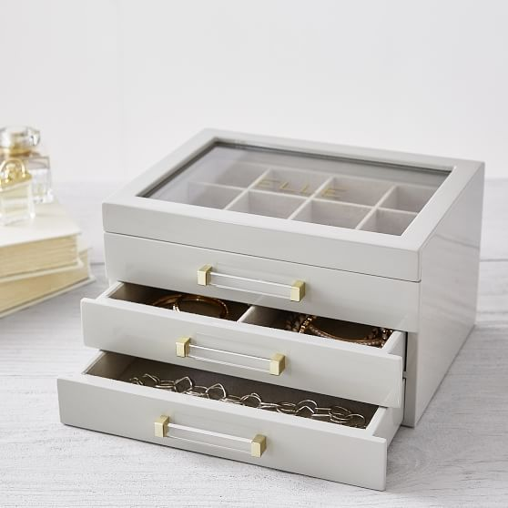 Elle Lacquer Jewelry Display Box gifts Pinterest Display boxes