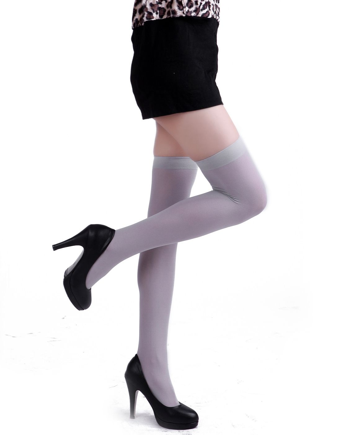 acce9486e3706 HDE Women's Thigh High Stockings S-XL Opaque Tights Over the Knee Nylon  Socks (White)#High, #Stockings, #XL