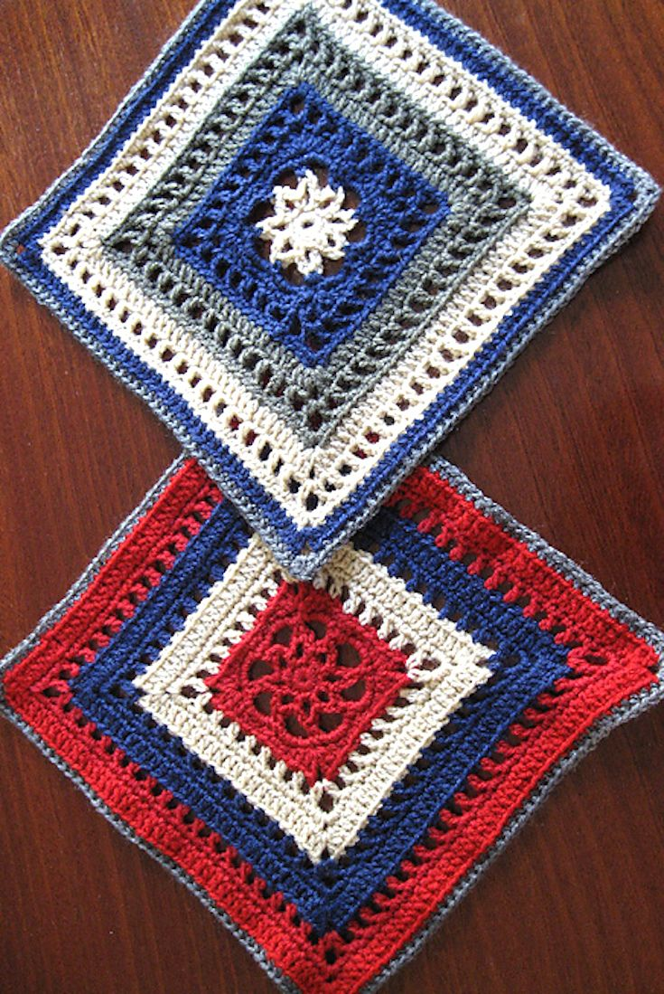 Free Crochet Pattern] Manny Ann\'s Square Looks Fabulous In Any Color ...