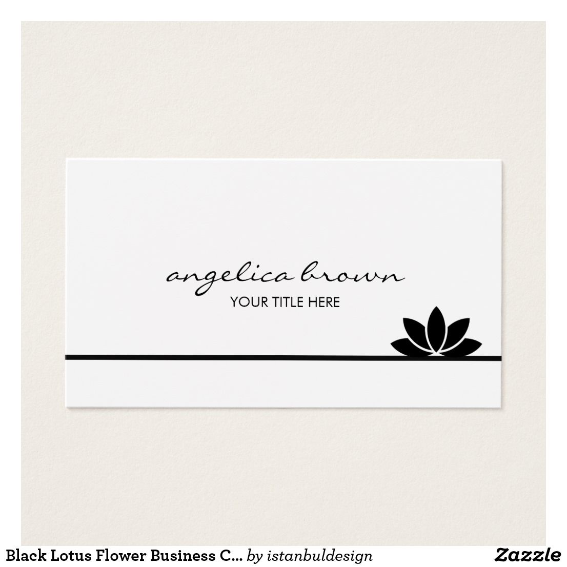 Black Lotus Flower Business Card | Business cards and Business