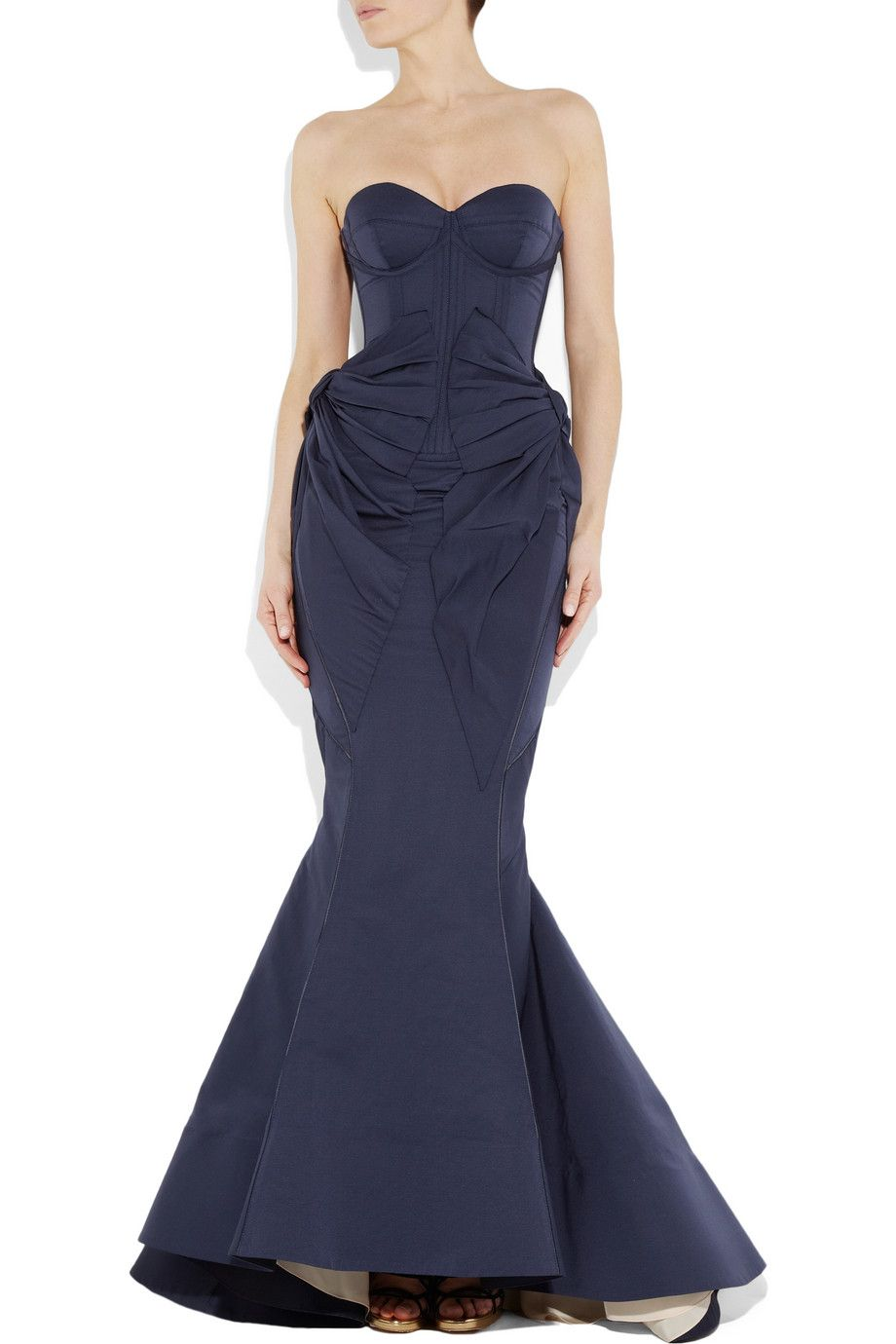 ZAC POSEN Bustier fishtail gown. #wedding dress | My Style ...