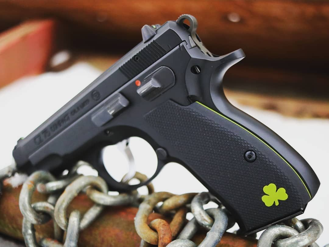 ☘️ How bout some Luck O' the Irish for your CZ 75?! I've