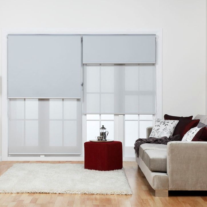 Dual Layer Or Double Roller Blinds With Blockout And