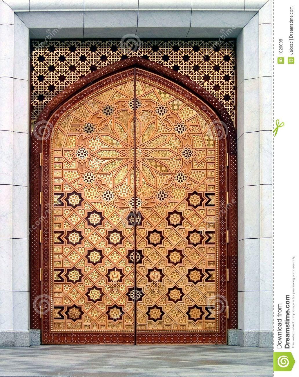 Charmant Door Kiptchak Mosque Turkmenistan