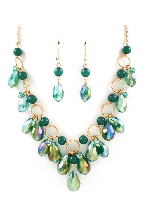 estilo actualizado Promoción de ventas seleccione original Briella Necklace in Teal Crystal on Emma Stine Limited ...