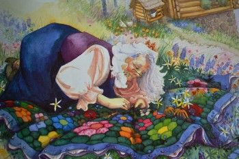 the quilt maker -- from the wonderful children's book The Quiltmaker's Gift