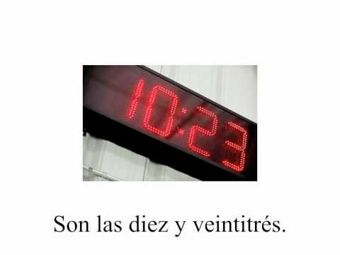 spanish telling time flh