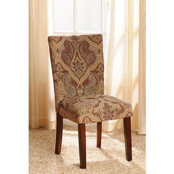 Best Blue Cream Paisley Parsons Chair Parsons Chairs 400 x 300