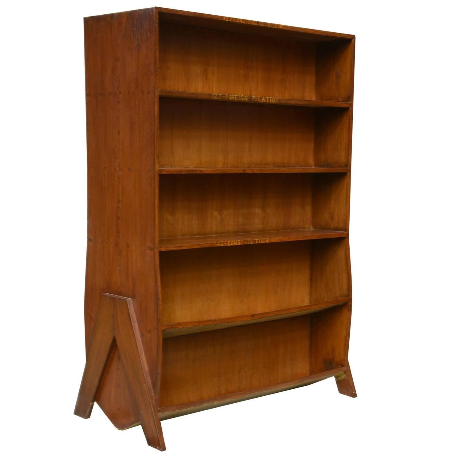sided double s bookcase