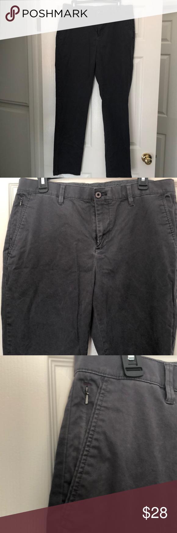 English Laundry Mens Dark Gray Straight Leg Pant English