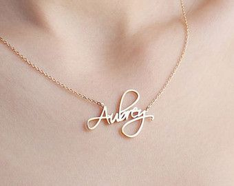 263faa8b4d86b Custom Name Necklace - Personalized Name Necklace - Minimal Name ...