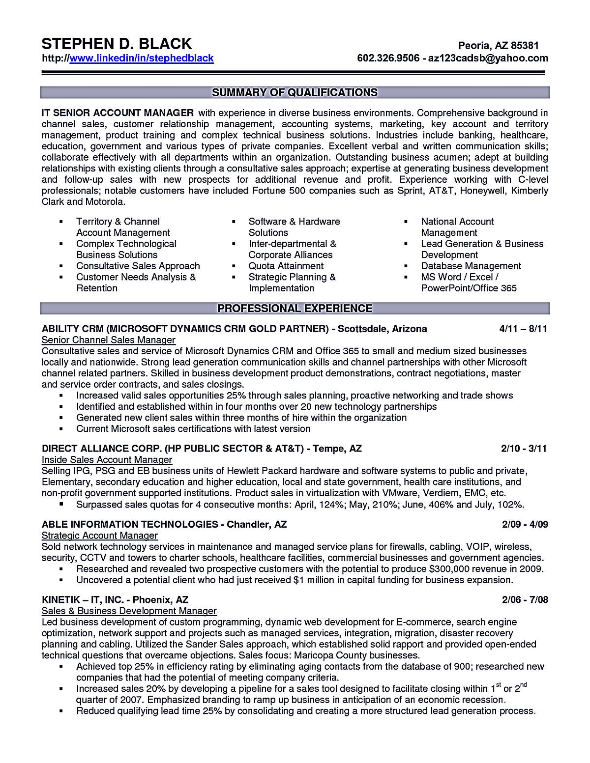 Resume Example For Manager Position Account Executive Resume Is Like Your Weapon To Get The