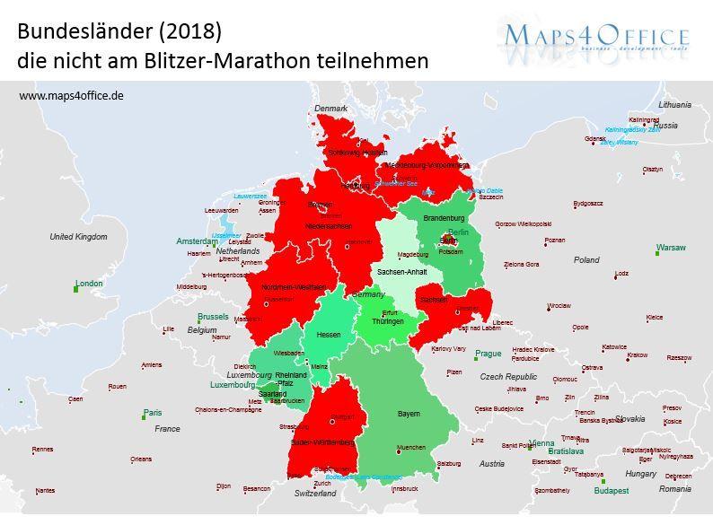 Blitzer Karte.Blitzer Marathon Karte Fur Munchen Und Deutschland Maps Of