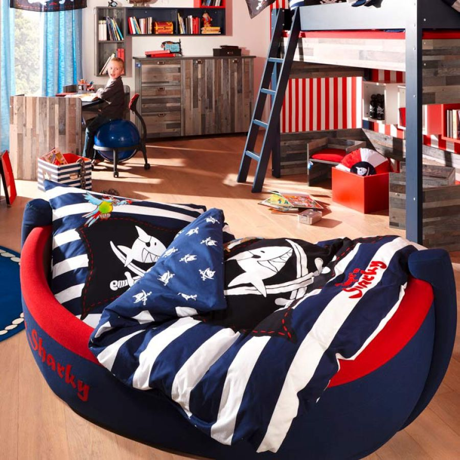 boot capt 39 n sharky inkl ablage paddel kids universe kinderuniversum pinterest. Black Bedroom Furniture Sets. Home Design Ideas