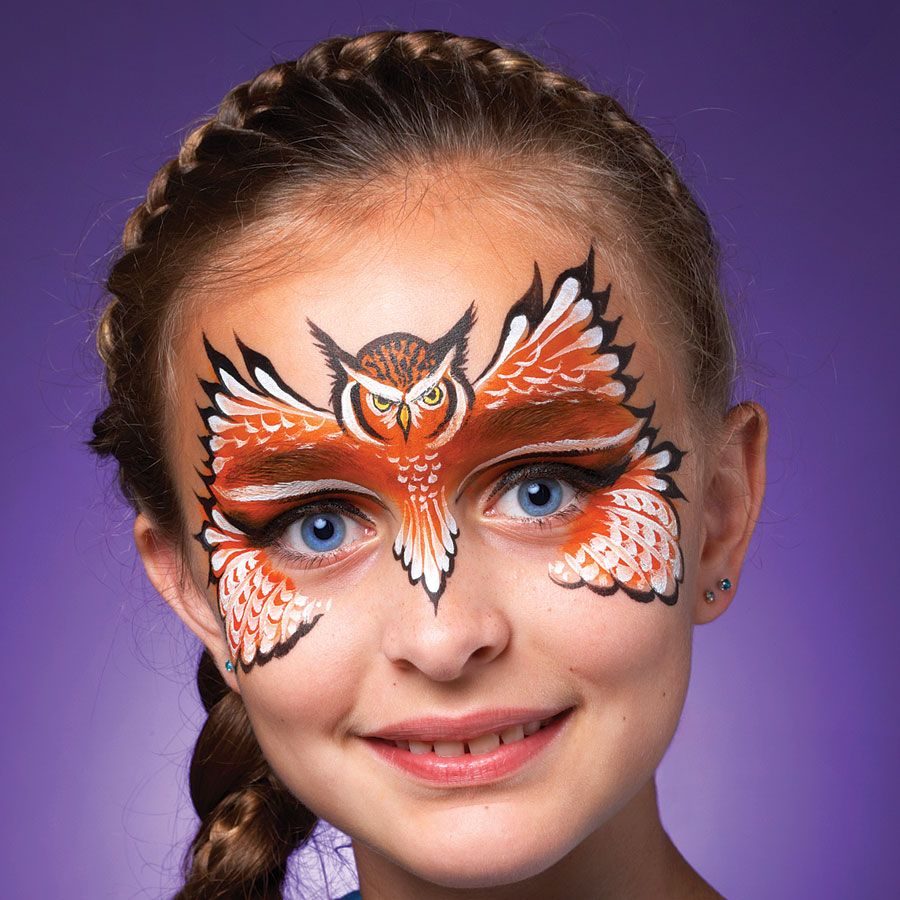 Uncategorized Face Painting Patterns an owl mask is the perfect accessory for halloween httpwww face paintowl